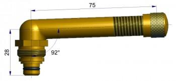 Вентиль длина 75 мм. R-0825-1