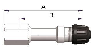 Прямой никелированный жесткий удлинитель  S-4584-2
