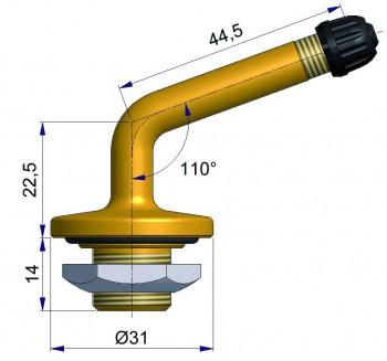 Вентиль б/к для подземной техники  R-1089-2